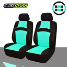Car Pass Rainbow Summer Universal Fit Car Seat Covers -100 Breathable Mint Blue