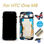 NEW For HTC One M8 813C LCD Digitizer Touch Screen  + Frame Complete Replacement