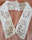 Antique Broderie Anglaise Eyelet Lace 3.25