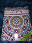 BRAND NEW Color Me Zen Adult Coloring Book Easy Tear Out Pages For Display