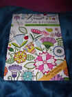 BRAND NEW Color Full Nature  Flowers Adult Coloring Book Easy Tear Out Pages