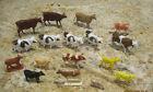 LOT OF COW FIGURINES HONG KONG BRITAINS LTD 1970 PLASTIC RUBBER