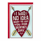 Funny Valentine Card Greeting Cards Gifts for Him Her Boyfriend Girlfriend Heart