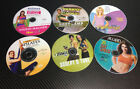 Lot of 6 Workout Exercise Fitness DVD Pilates Biggest Loser 30 day Sherd