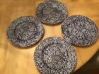 Queen's Calico blue salad plates -set of four