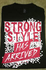 Authentic WWE Wear T Shirt NAKAMURA STRONG STYLE HAS ARRIVED DBL Sided Black XL
