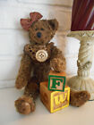 Primitive Miss Flora the Bear! Extreme Grungie!  Includes blocks