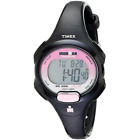 Timex Women's T5K522 Ironman Indiglo Mid-Size Black/Pink Resin Strap Watch