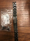 DKNY Womens grey dress watch with grey strap made of metal and jewel stones