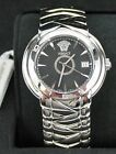 Versace Men's Round Atelier Watch In Stainless Steel NWT Needs Battery