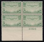 TDStamps US Airmail Stamps ScottC21 20c Unused NG P Block of 4