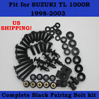Complete Screws Black Fairing Bolt Kit fit for SUZUKI TL1000R 1998-2003 f01
