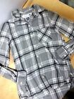 womens size small Old Navy classic shirt soft flannel button down gray shirt