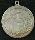 1892 LOVE TOKEN MADE FROM DIME 10C INITIALS C R J AND BARTLESVILLE IT
