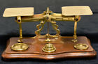 Antique Desktop Brass Postage Balance Scale and Weights Smith  Downes London
