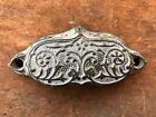 Beautiful Ornate Antique Cast Iron type tray handle pull for drawer