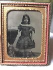Cased Quarter Plate Ambrotype of Young Pretty Girl