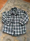 Old Navy Baby Boy Plaid Brushed Cotton Button Down Holiday Size 2T