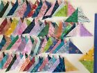 Quilting Triangles Lot Over 60 Double Print Half Square 100 Cotton