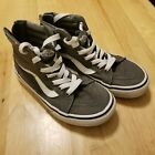 Boys Vans Shoes Gray Sneakers Skate Shoes High Top Grey EUC Size 1