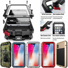 Aluminum Metal Shockproof waterproof Glass Case Cover for iPhone X 8 7 6s 6 Plus