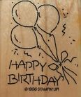 HAPPY BIRTHDAY Stampin Up RUBBER STAMP Wood NEW