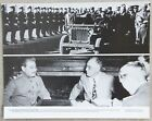 Vintage 11x14 Photo President Roosevelt in Russia meeting w/ Joseph Stalin, 1945