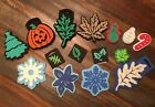 Chunky Foam Stamps Lot of 15 Holiday Leaves Pumpkin Simply Plaid Enterprises NEW