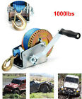 1000lbs Hand Winch / Hand Crank Gear Winch Polyester Strap ATV Boat Trailer H-D