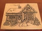 New PSX Winter Christmas House Rubber Stamp Rare K2139