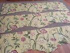 Waverly Somerset Botanical Gold Floral Scalloped Valances Set of 3
