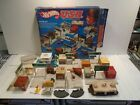 Hot Wheels USA Deluxe Play Set in Original Box Vintage 1981 w Matchbox Hospital