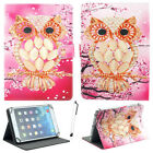 """US For 7"""" - 10.1"""" Tablets PC Pink Owl Pattern Universal Printed PU Leather Case"""
