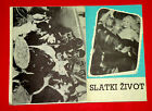 LA DOLCE VITA 1960 FEDERICO FELLINI ANITA EKBERG MASTROIANNI EXYU MOVIE PROGRAM