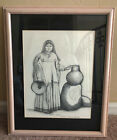 Artwork Native American Sketch Apache Woman by Paula Beck