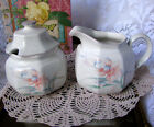 Mikasa Casual Moods Melissa Creamer and Sugar Bowl With Lid, Pattern CH806