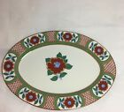 FITZ AND FLOYD VTG ART DECO LOOK CAMELLIA SERVING PLATER DISCONTINUED 10X14