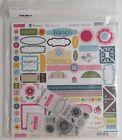 Bella Blvd Flirty Plastino Collection Scrapbook Paper Card stock Stamps Kit NEW