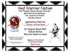 NATIVE KENPO 1st Degree Black Belt PROGRAM Diploma  DVD NAKC patch Ikka decal