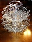 Vintage / Antique FEDERAL glass PETAL pattern Double bowl-10 in. and 8 in.