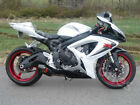 White w/ Black Fairing Injection For Suzuki GSXR GSX-R 600 750 K6 2006-2007 05