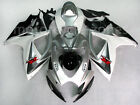 White w/ Silver Fairing Injection For Suzuki GSXR GSX-R 600 750 K6 2006-2007 05