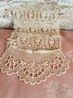 Antique Needle Lace Panel Doll Dress Front Collar Lot of VTG Sewing Trim Lot Z2
