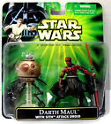 Star Wars DELUXE POTJ DARTH MAUL WITH SITH ATTACK DROID New Free Shipping