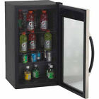 Beverage Cooler Cabinet Glass Door Refrigerator Fridge Storage Wine Bottle Can