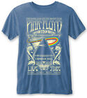 Pink Floyd Carnegie Hall Blue Burnout T Shirt NEW  OFFICIAL