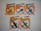 1982 Vintage WW2 Planes Zee Toys Dyna Flites Die Cast Factory 5 lot