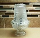 Vintage Clear Glass Hobnail Fairy Lamp Candle Holder with Instructions