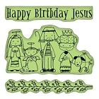 Inkadinkado Cling Stamps Happy Birthday Jesus