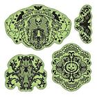 Inkadinkado Stamping Gear Cling Stamps Halloween Lace